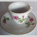 Servizio tazzine da caffe in porcellana con piattini