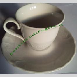 Servizio tazzine da caffe in porcellana Tognana con piattini