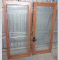 Serramento in legno massello douglas finestra vetro singolo