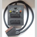 Cavo adattatore switch scart s-vhs (s-video) rca audio video composito