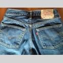 Jeans Levi Strauss 501 Denim Blu Scuro W30 L34