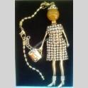 Collana Shopping Queen Pendente Bambola Vintage