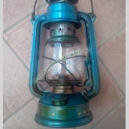 Lampada a Cherosene Olio Anni 50 Lume in Vetro Vintage
