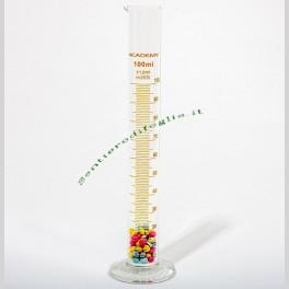 Cilindro Graduato in Vetro Borosilicato da 100 ml