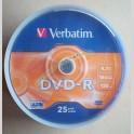 Dvd-r Verbatim Azo 4.7gb 16x 120 Minuti Campana da 25 pezzi