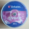 Dvd+R Verbatim Azo 4.7gb 16x 120 Minuti Campana da 25 Pezzi