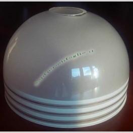 Coppa in Vetro Lampada a Campana Strisce Bianche Applique Vintage