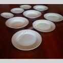 Lotto Piatti Piattini Fondine in Ceramica Diamondstone Richard Ginori e Laveno