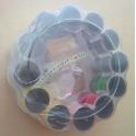 Set Cucito da Viaggio con Rocchetti Bottoni Metro Aghi Spolette per Vestiti