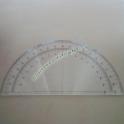 Goniometro Semicircolare 180 Gradi 30cm Linear in Plexiglass Trasparente Misurazione Angoli