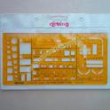 Maschera per Arredamenti Rotring Fotoincisa in Perpex Flessibile Arancione