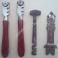 Tagliavetro Silberschnitt con Rotelle e Manico in Legno Incisore Shaw & Son ed Affilalame Vintage