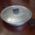 Tegame Rotondo in Alluminio con Coperchio e Manici Professionale