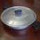 Tegame Rotondo in Alluminio Opaco con Coperchio e Maniglie Professionale 35cm