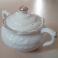 Zuccheriera Porcellana Bianca con Decorazioni Dorate Contenitore Porta Zucchero Marchio N