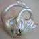 Portafiori Cigni Accoppiati Ceramica Realizzato Dipinto a Mano Artigianale Vintage Bonsai