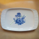 Vassoio da Portata in Porcellana Schirnding Bavaria Decorato Disegni Fiori Azzurri Epoca