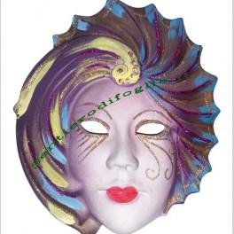 Maschera artigianale in ceramica dipinta a mano
