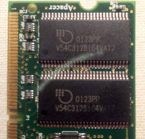 Memoria Ram 128 mb PC133 144 pin Dimm Apacer Laptop