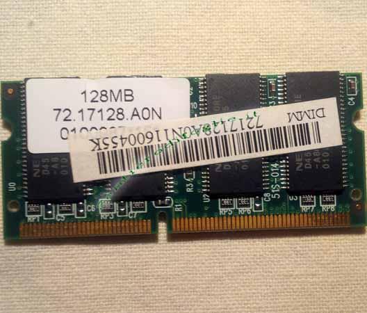 Memoria Sd Ram 128 mb PC133 144 pin Computer Laptop