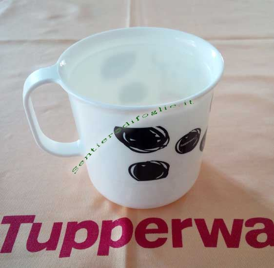 Tazzina Decorata Allegra Mucca Tupperware Bevande Lavastoviglie Anallergica