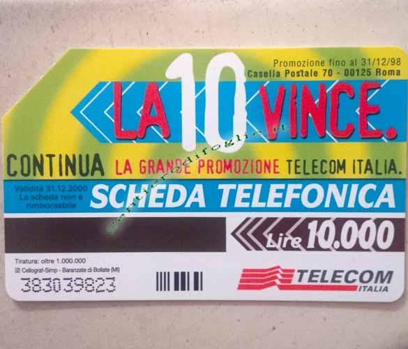 Carta Telefonica Telecom Italia Chiamo Nico Dico