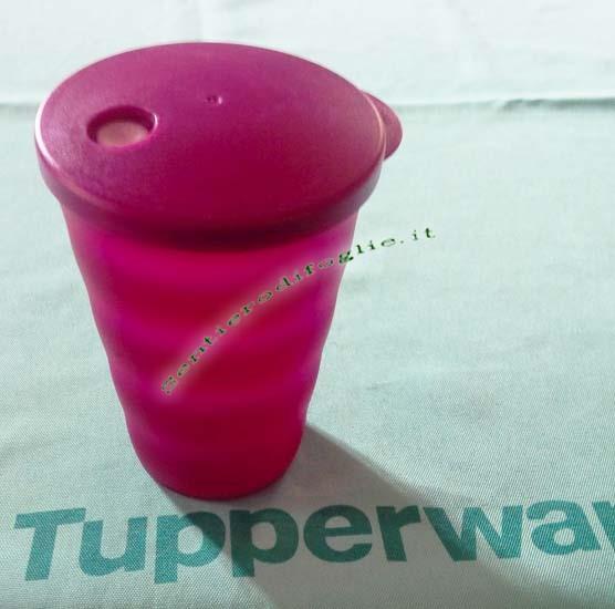 Bicchieri Nuovi Classici Tupperware 330ml Sigillo Linguetta Colori Vivaci Bevande Trasporto