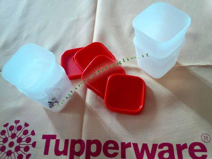 Barattoli Freezer Sigillo Rosso Tupperware Conservare Cucina