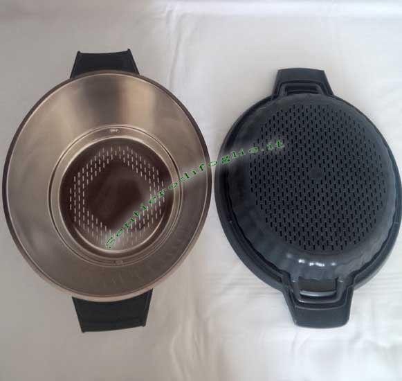 Varoma Coperchio Recipiente Vassoio Elementi Incastro Cucinare Vapore Bimby Thermomix