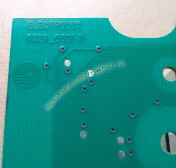 Display Lavatrice EUI10700BA 136620504 Aeg Rex Electrolux Sw UAA08103 Originale