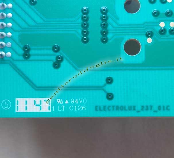 Scheda Elettronica Display Lavatrice Modello L75280FL EUI10700BA 136620504 Aeg Ricambio