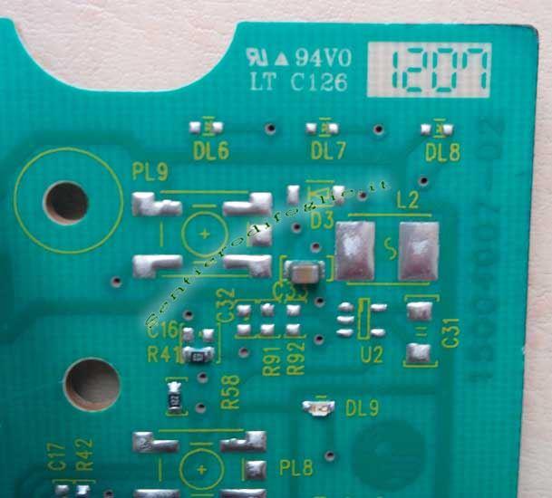 Scheda Elettronica Programmata Display Frontale Lavatrici Aeg Rex Electrolux Ricambi