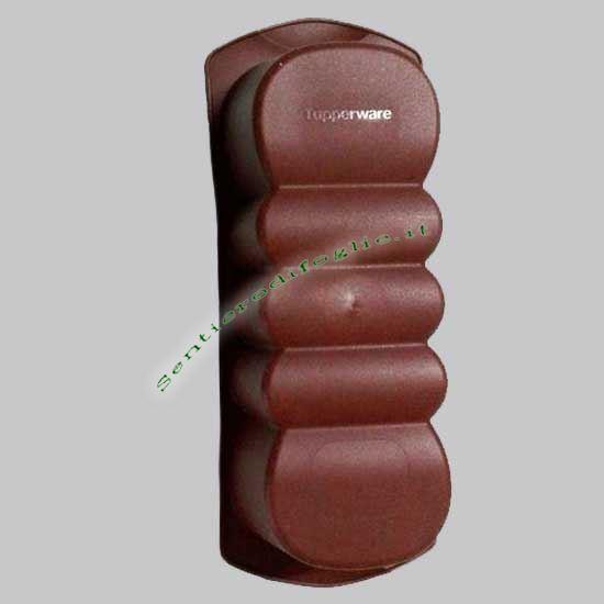 Stampino Marrone Silicone 600ml Tupperware Dolci Antiaderente Flessibile Forno Microonde