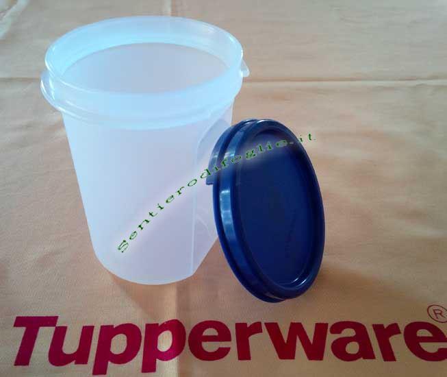 Contenitore Tondo Tupperware 440ml Semitrasparente Sigillo Spaghettiera Ermetico