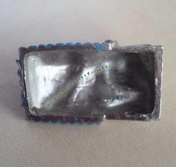 Bimbo Addormentato Lettino Vintage Metallo Decorato Mano Culla Piccolo Zinco Lavorato