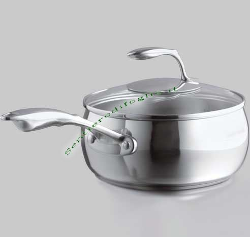 Casseruola Chef Tupperware 2,8L Acciaio Coperchio Vetro Scala Graduata Laser Manico Cavo