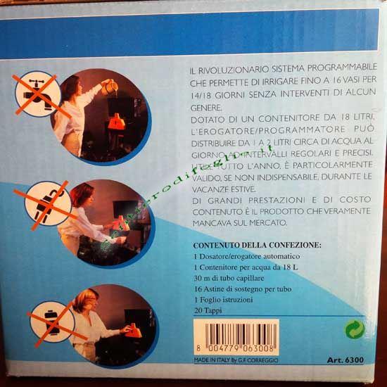 Serbatoio Automatico Acqua Erogatore Goccia Acquagenius Annaffiare Piante Appartamento
