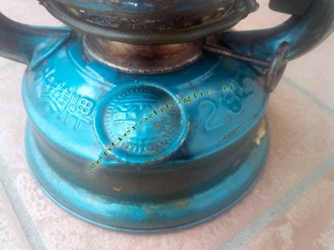Lanterna Ferro Vetro Petrolio Kerosene Olio Acciaio