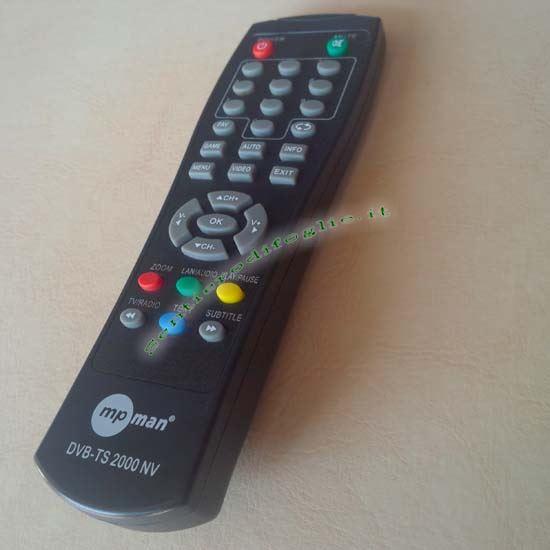 Telecomando Controllo Remoto DVB-TS 2000NV Mpman Decoder Digitale Terrestre Originale