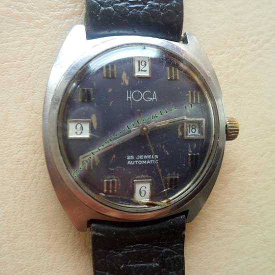 Orologio Polso Hoga 25 Jewels Automatico Carica Manuale Svizzero Vintage Anni 50