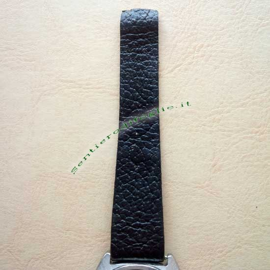 Orologio Polso Hoga 25 Jewels Cinturino Pelle Svizzero Vintage Acciaio Inossidabile