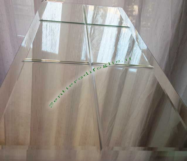 Specchio Arredo Fissaggio Parete Soffitto Rettangolare Decoro Senza Cornice