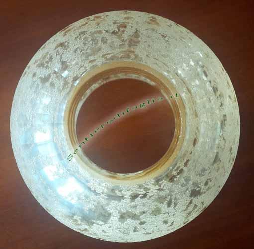 Coppa in vetro decorato per lampadario applique - Mensola porta modem ...