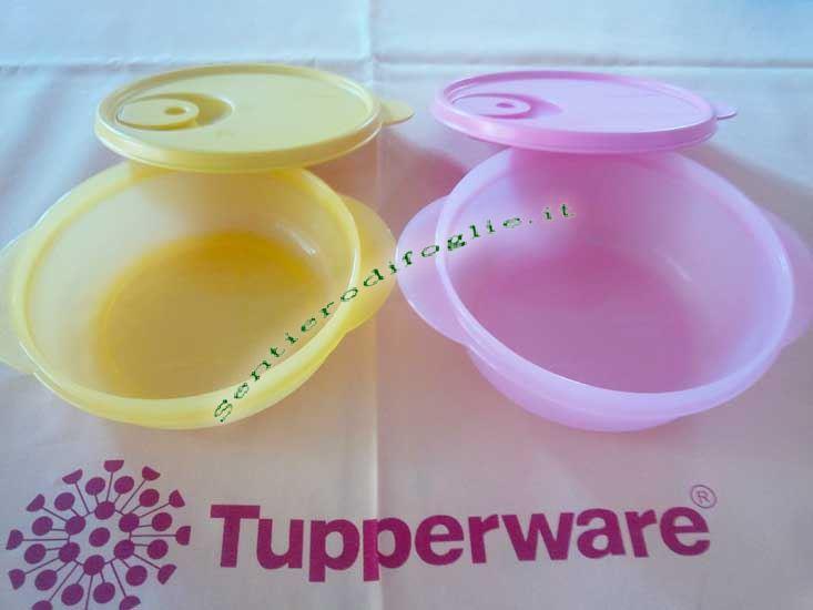 Ciotole Crystalwave Tupperware Sigillo Ermetico Microonde 400ml 600ml Riscaldare Tappo