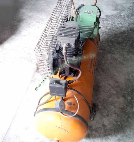 Compressore 100 Litri Monofase 220v Ruote Motore Fadini