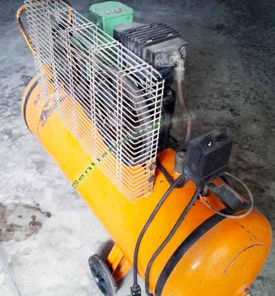 Compressore 100 Litri Serbatoio Manometro Regolatore Pressione