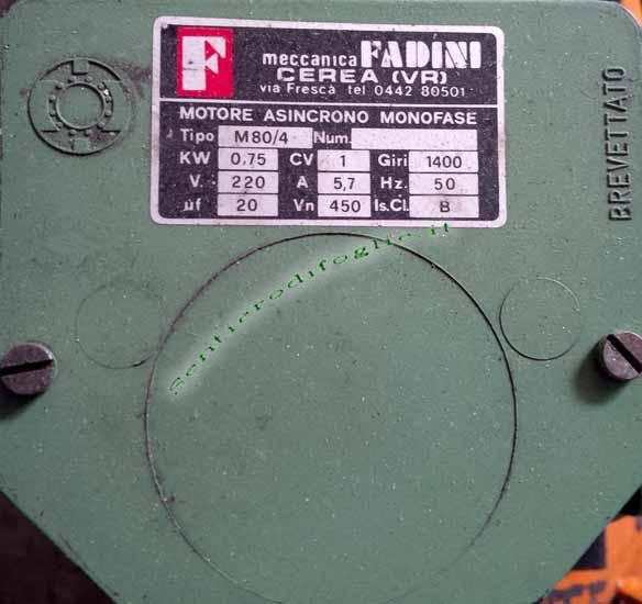 Compressore Aria 100 Litri Monofase Motore Fadini