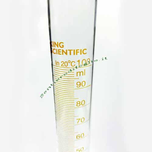 Cilindro Vetro Borosilicato Tacche Graduate 100 ml