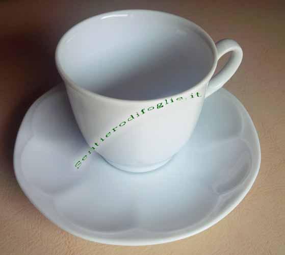 Set Tazzine Caffe Porcellana Piattini Bianco
