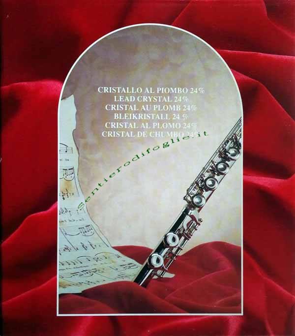 Portaoggetti Tavola Cristallo Piombo Cristalleria Rcr Opera